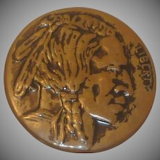 Indian Head Copper Gold Color Button Set