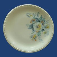 Taylor Smith Taylor Saucer Plate Blue Yellow Aqua Flowers