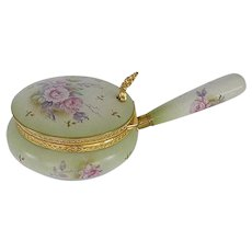 Lefton Ceramic Decorative  Saucepan with Handle / Hinged Lid