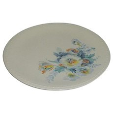 Taylor Smith Taylor Dinner Plate Blue Yellow Aqua Flowers