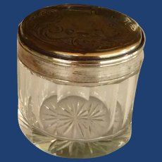 Lovely Small Dresser Jar with Silver Tone Lid