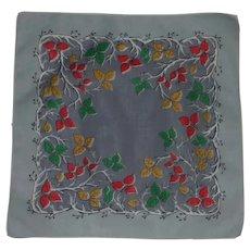 Autumn Leaves Grey Handkerchief