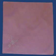 Bright Hot Pink Embroidered Handkerchief