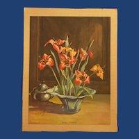 """Morris & Bendien Co. """"Shell Flower"""" Lockhart Print"""