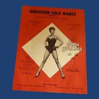 """Whatever Lola Wants"" Damn Yankees Sheet Music"