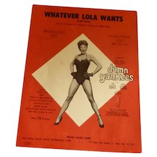 """Whatever Lola Wants"" Damn Yankees Sheet Music"