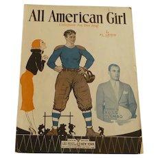 """All American Girl"" Collegiate Song Sheet Music"