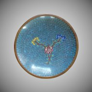 Chinese Cloisonné Cloisonne Blue Small Plate