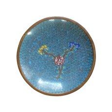 Chinese Cloisonné Cloisonne Blue Small Plate