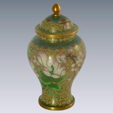 Miniature Cloisonné Asian Ginger Jar