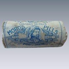 Old Moro Medical  Co. Pills for Men Bottle and Packaging