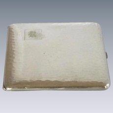 Cigarette Silver Plate R Monogrammed Case