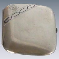 German Mark  Silver Tone Monogrammed R Cigarette Case