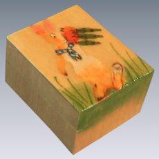 Hand Painted Rabbit on Wooden Trinket Box