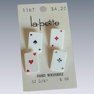 La Petite Playing Card Suit Buttons