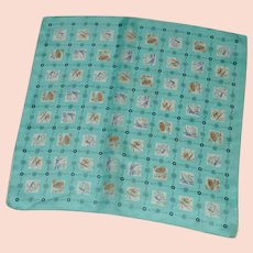 Aqua Sports 1950's Chief Value Silk Scarf