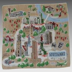 Stuttgart Germany Souvenir Handkerchief Hanky