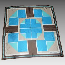 Geometric Atelier Parnasse Design Silk Scarf