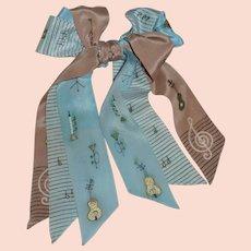 1940's Tri Tie Silk Bow Tie