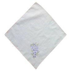 Sweet White Grandma Handkerchief Hanky