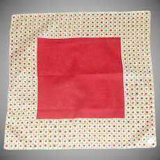 Large Red Middle with Square Hashtag design Handkerchief