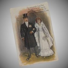 1908 Post Card Wedding and Leap Year