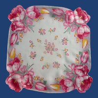 Bold Large Pink Tulip Handkerchief Hanky