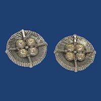 Silver Tone White Diamond Rhinestone Metal Buttons