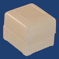 1950's Engagement Ring Plastic White Box