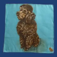 Chocolate Poodle Dog Handkerchief