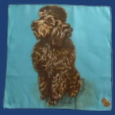 Chocolate Poodle Dog Handkerchief