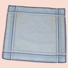 Men's Blue Cotton 1960's Handkerchief