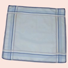 Men's Blue Cotton 1960's Handkerchief