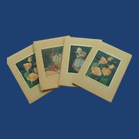4 Score Booklets for Bridge 1940's