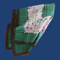 Green Plaid Glentex Paisley Scarf