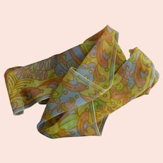 Sally Gee Silk and Venal Sheer 1970's Scarf