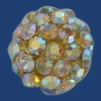Large Domed Diamond Rhinestone Sewing Button