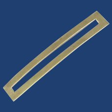 Open Rectangular Sterling Silver Hair Clip