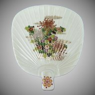 Hand Painted Takahashi Fan Shape Porcelain Dish Plate