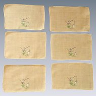 Melon Orange 6 Cocktail Napkins