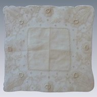 Vintage Wedding Lace Crème White Handkerchief Hanky Hankie