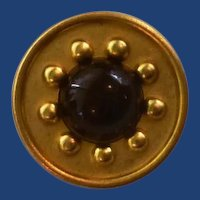 Gold Tone with Black Center Metal Button