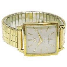 Vintage 14k yellow gold HAMILTON Masterpiece Men's Wrist Watch Western Electric