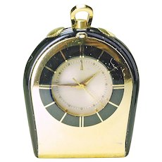 Jaeger LeCoultre Vintage Memovox Alarm Table Travel Pocket Watch w/orig Red Box runnning