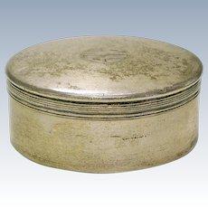 Vintage Tiffany & Co. Sterling silver round dresser Powder Box 9726 6243 dented