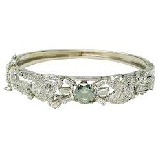 Vintage 14k White Gold 2.67ctr & 5.75ct Diamond Total Weight bangle bracelet circa 1935