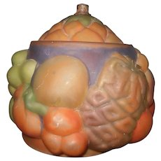 VINTAGE Fruit Puffy Art Glass Lamp Shade