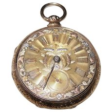 1800-1894 Beautiful ML Tobias Antique Pocket Watch Liverpool