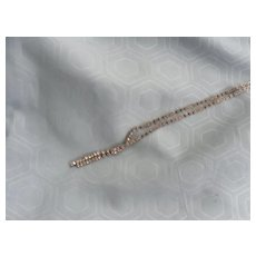 1950's Clear Rhinestone Choker Necklace