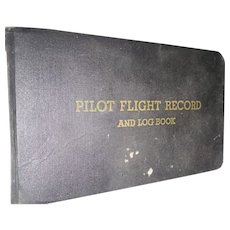 Vintage  Pilot Flight Record and Log Book